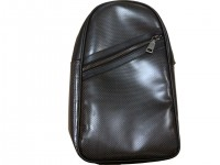 Рюкзак Karbonn fiber chest bag+leather Black 18*30*7*10CM (RDCB-1)