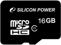 Карта памяти Silicon Power Micro SDHC card 16GB Class10 (SP016GBSTH010V10)