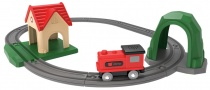Деревянная железная дорога MiTU Track building block sound and light train DIEL0384