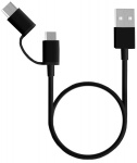Кабель ZMi AL501 USB - Type-C/Micro USB 2 in 1 (100 см) Black