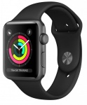 Смарт-часы Apple Watch Series 3 GPS, 38mm Space Grey Aluminium Case with Blac (MTF02FS/A)